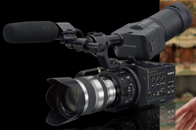 Sony's low-budget S35mm-frame-sized NEX-FS100 camcorder