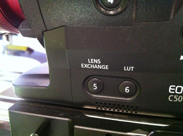 &quot;Lens Exchange&quot; button on the C500