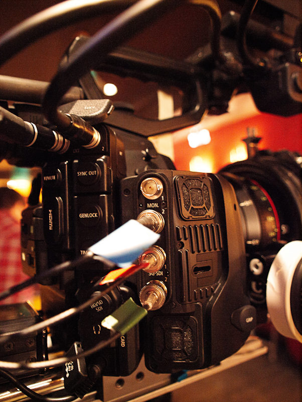 "The fan unit and the new connectors of the C500 - on the set of ""ALEX"""