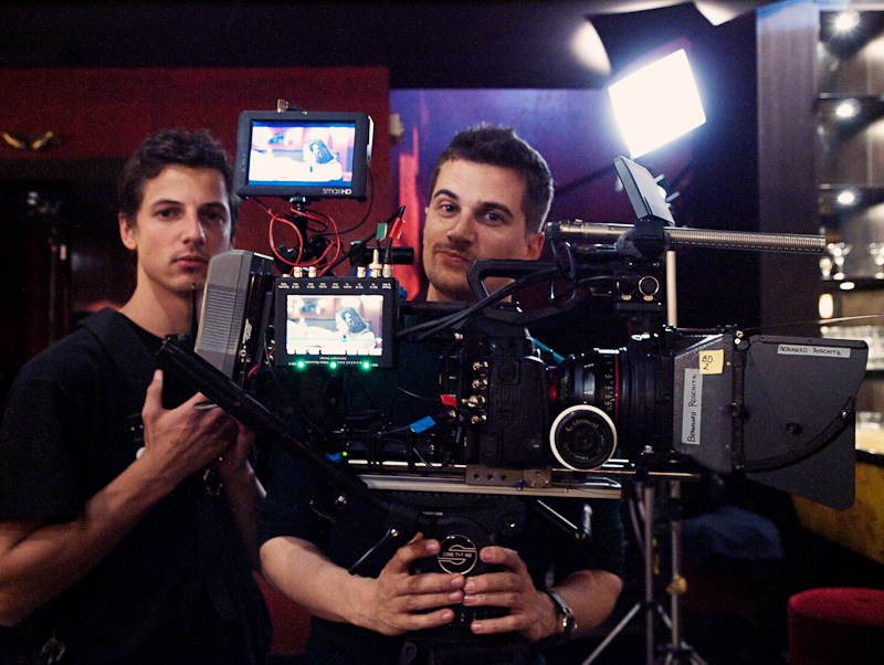 "1st AC Alois Kozar Jr. and DP Nino Leitner, AAC on the set of ""ALEX"", the first C500 short film outside of Canon's control"