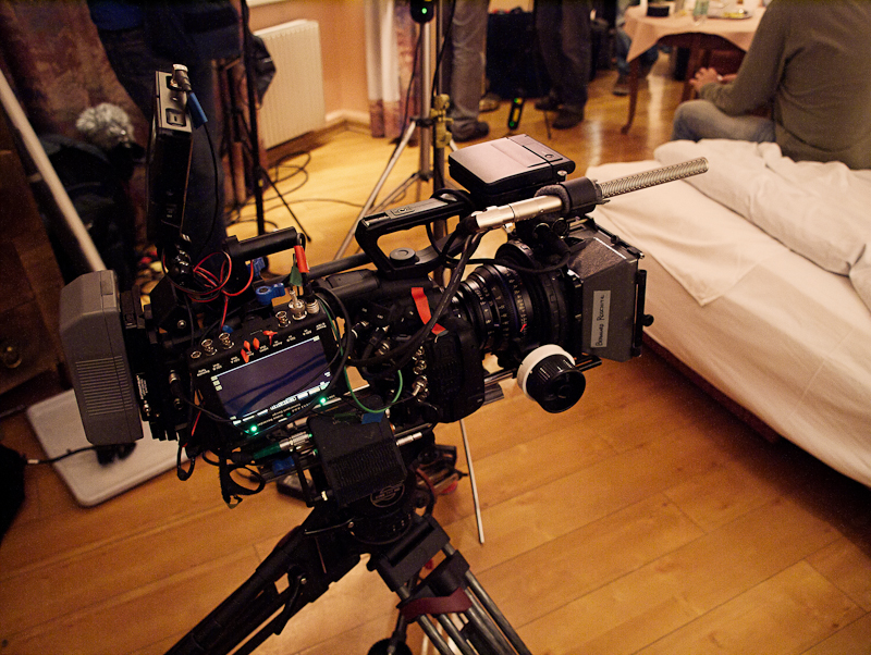 "The Gemini 4:4:4 recorder rigged onto the side of our C500 ""Frankenrig"""