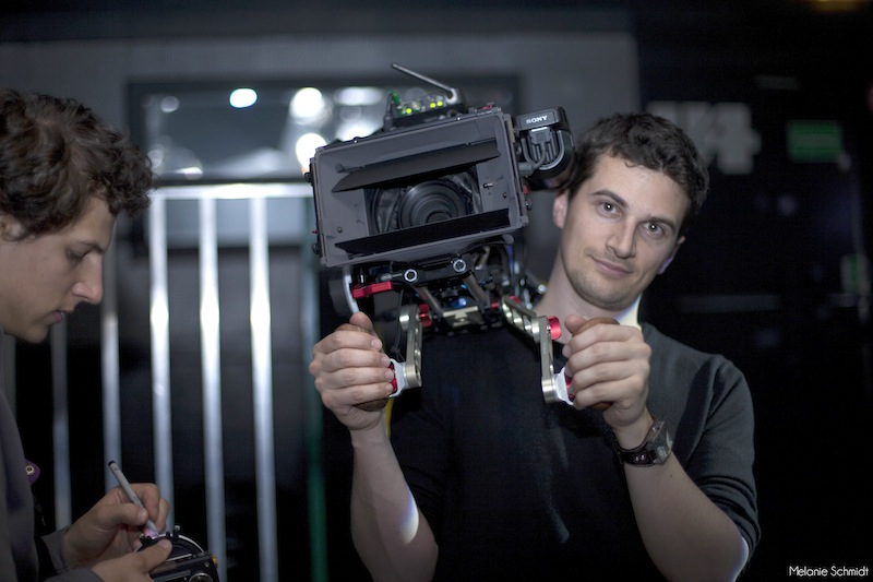 Nino Leitner using a Vocas prototype rig for the F55 with their terrific wooden handles
