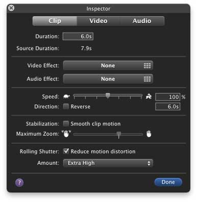 Rolling Shutter fix in iMovie &#8217;11 The feature Final Cut Pro users have been waiting for?