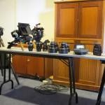 LOTS of gear ... this is just a tiny little bit of it, but the great set of Zeiss CP.2 lenses that we had there