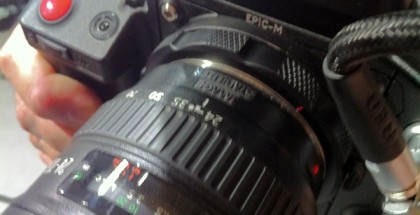 RED EF Mount up close on a RED EPIC