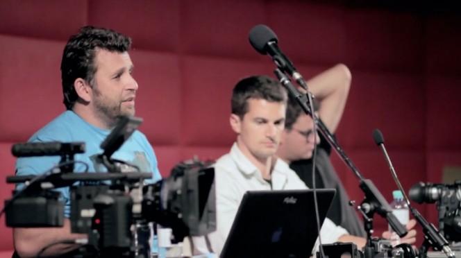 Philip Bloom, Nino Leitner and Sebastian Wiegärtner at the 2011 Cambusters 1-day workshop in Vienna