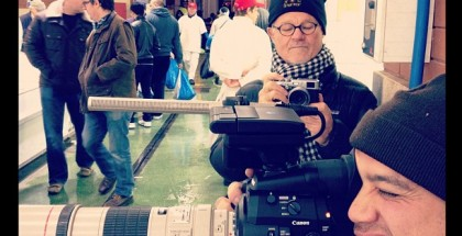 Lan Bui with the C300 and Rodney Charters shooting stills with his Fuji X100