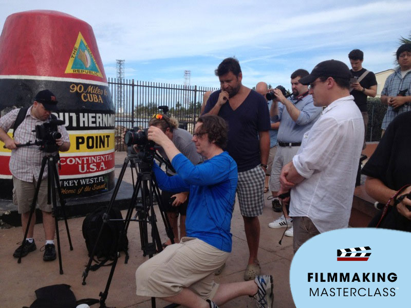 Working with attendees at the Key West Filmmaking Masterclass 2012