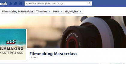 Become a FAN of the Filmmaking Masterclasses on Facebook!