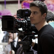Director of photography Nino Leitner operating the Sony F55