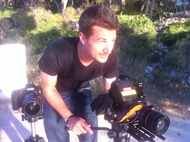 Nino Leitner with the KineRAW Mini and the 5D Mark III side-by-side RAW comparison shoot in Croatia