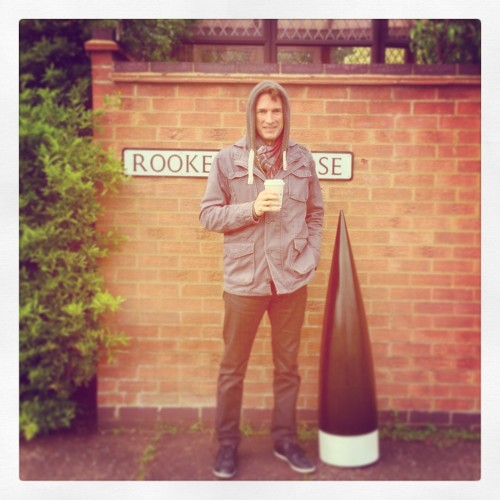 Director Robert Styblo being cool in Russ's street - Rockery Lane (we kid you not, that was the name of the street!)