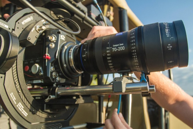 Phantom Flex4K with the ZEISS Compact Zoom 70-200 in an Artemis Maxima gimbal.