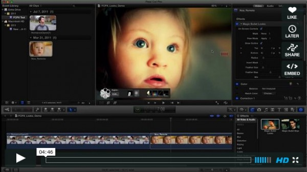Magic Bullet Looks for Final Cut Pro X soon ready to be released … and some thoughts on FCPX