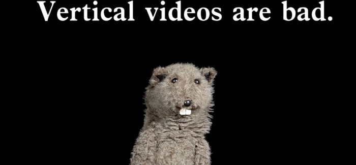 Just say NO to vertical videos